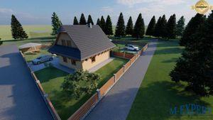Zrubový dom Zázrivá - chalupa na rekreáciu aj bývanie, novostavba