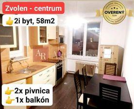 PREDAJ: 2i byt kompletne zrekonštruovaný, centrum Zvolena, 58 m2