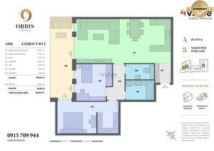 3-izb. byt Orbis Nitra 100m2