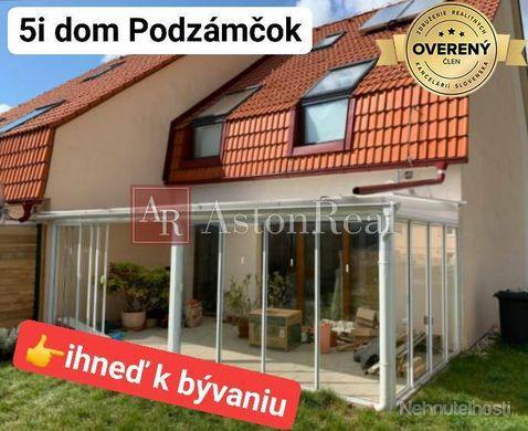 Predaj: 5i dom PODZÁMČOK 215m2 + zimná záhrada + garáž + pozemok 330m2