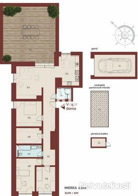 EXKLUZÍVNÝ 4-izbový BYT 116,81m²+59,61m² TERASA - obrázok