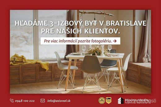AXIS REAL:: Hľadáme pre našich klientov 3-izbový byt v Bratislave V. - obrázok