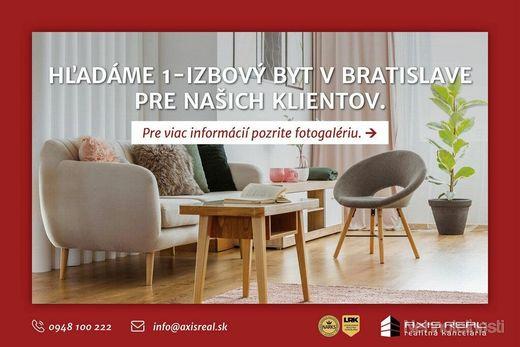 AXIS REAL:: Hľadáme pre našich klientov 1-izbový byt v Bratislave III. - obrázok
