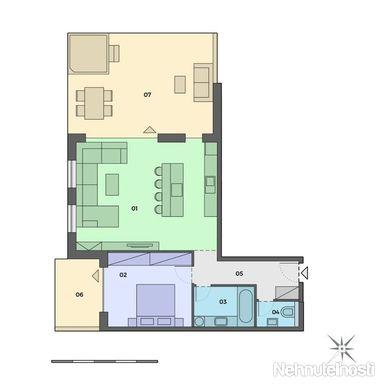 2. Izb. byt v centre mesta - NITRA