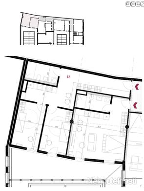 NA PREDAJ: Veľký 3  izbový apartmán s terasou v novostavbe v centre mesta na Hornopotočnej ulici.
