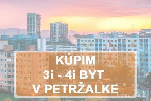 KÚPIME 3i, 4i BYT -  BAV - Petržalka - obrázok